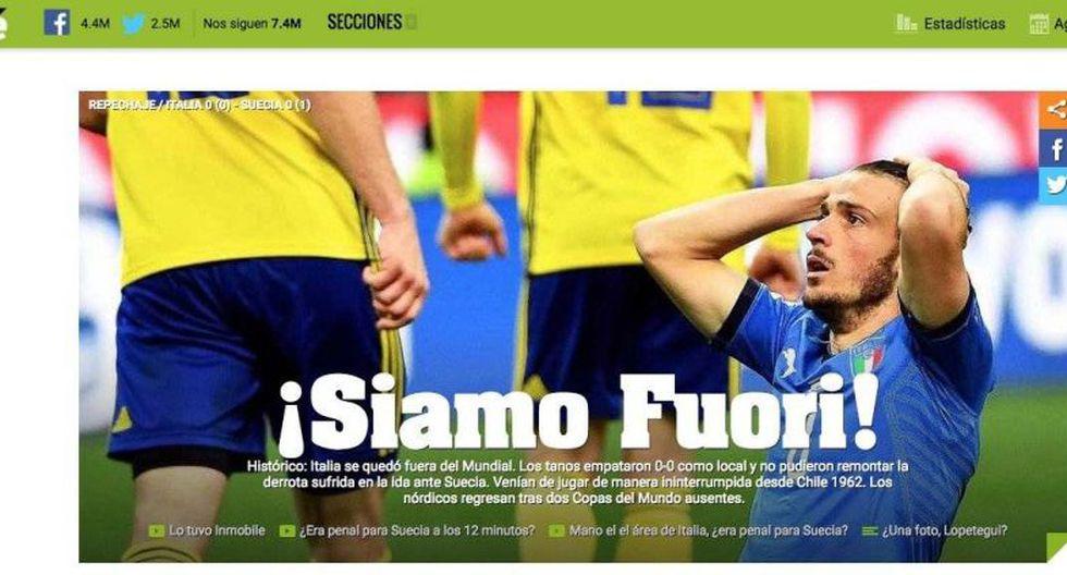 Diario Olé - Argentina. (Foto: captura de pantalla)
