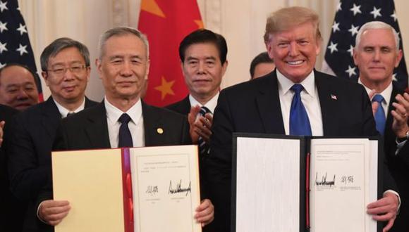 """Trump presentó su acuerdo con China como el """"más grande"""" que haya en el mundo. (Foto: AFP)"""