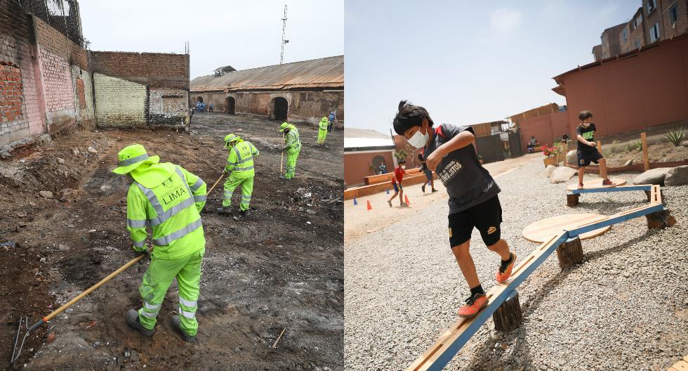 Pese a los imprevistos propios de la pandemia, ya se han logrado recuperar para los vecinos más de 10 mil metros cuadrados de ciudad. (Fotos: Municipalidad de Lima)
