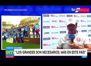 Ángel Comizzo desata polémica al decir que Sporting Cristal no está a la altura de la 'U'