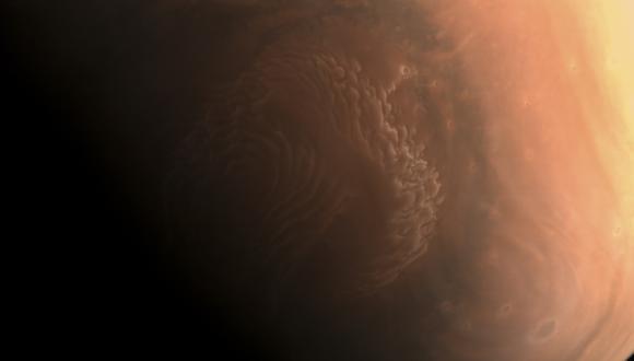 Imagen de Marte capturada por la sonda de China Tianwen-1. (Foto: Handout / China National Space Administration (CNSA) / AFP)