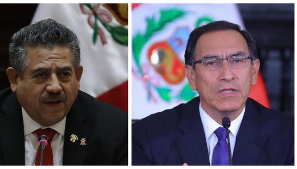 Manuel Merino rechazó las acusaciones del presidente Martín Vizcarra de una conspiración