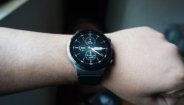 Así es el Huawei Watch GT 2 Pro. (Foto: Julio Melgarejo)