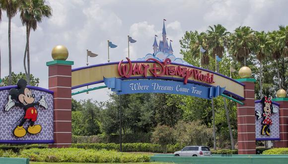 La entrada principal al Walt Disney World Resort de los parques temáticos fuera de Orlando, Florida. (EFE/ERIK S. LESSER).