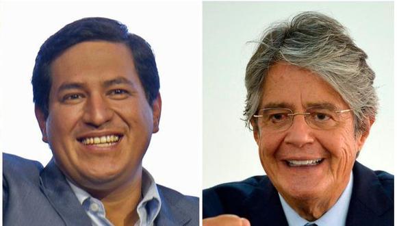 El izquierdista Andrés Arauz (izquierda) y el derechista Guillermo Lasso disputarán la segunda vuelta presidencial en Ecuador este domingo 11 de abril. (Fotos: AFP).