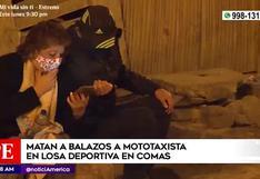 Comas: mototaxista fue asesinado de tres balazos en losa deportiva | VIDEO