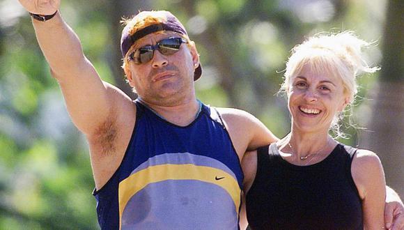 Claudia Villafañe y Diego Armando Maradona se casaron en 1989 y tuvieron dos hijas, Dalma y Giannina. (Foto: Agencias)