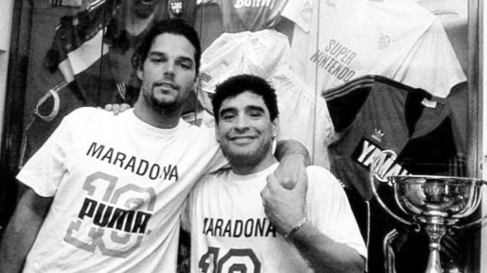 Con Ricky Martin.