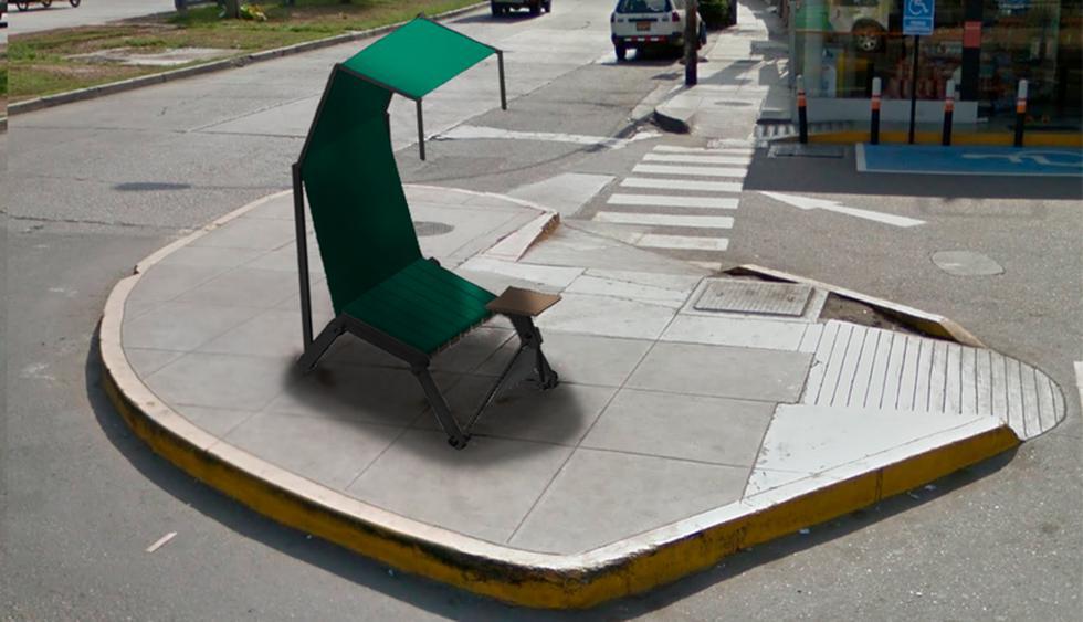 Provit. Esta silla recoge la problemática que suelen enfrentar los lustrabotas de la tercera edad. (Foto: Difusión)