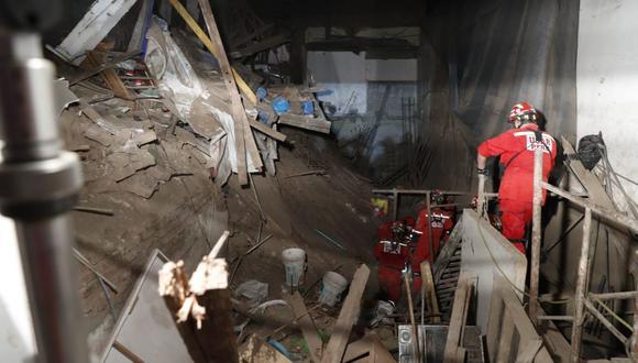 Los bomberos trabajaron por más de 40 horas para rescatar a José Martín Huerto Garrido. (Foto: Hugo Perez / @photo.gec)