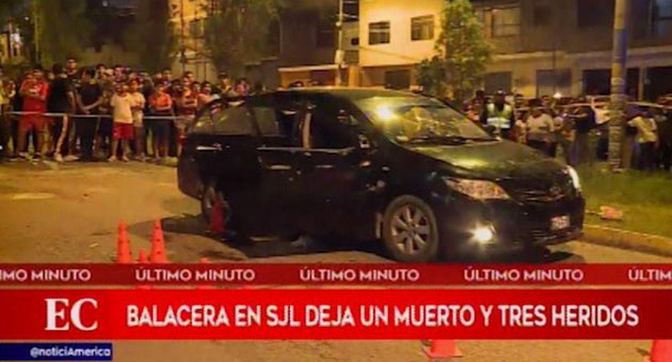 La balacera ocurrió en la cuadra 15 de la avenida República de Polonia, en San Juan de Lurigancho. (América Noticias)