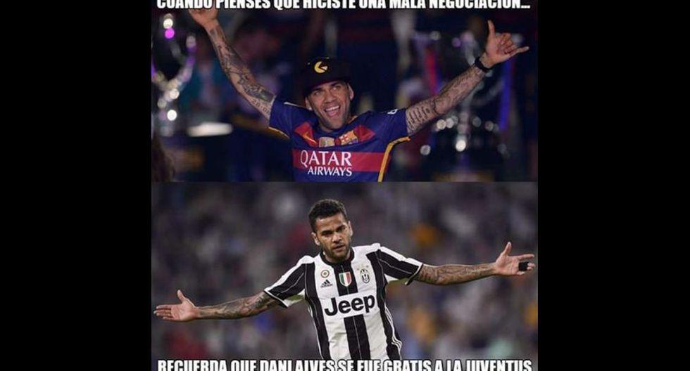 Juventus vs Mónaco: Dani Alves es protagonista de los memes - 9