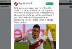 Christian Cueva: MisterChip y los mensajes de solidaridad que recibió el jugador [FOTOS]