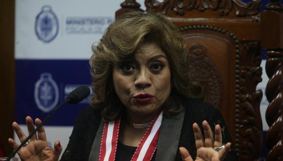 """Zoraida Ávalos, fiscal de la Nación, afirmó que """"los hechos"""" del Caso Swing sí se están investigando. (Foto: El Comercio)"""