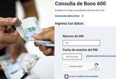 Bono 600 soles: revisa aquí si eres parte del padrón de beneficiarios