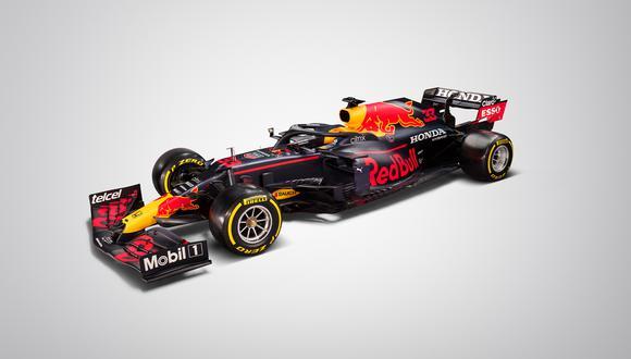 El monoplaza de Red Bull Racing presenta ligeros cambios a su anterior RB16. (Foto: Red Bull Racing)