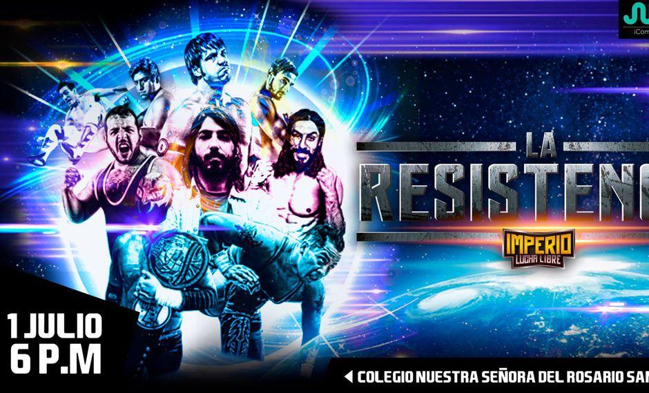 Imperio Lucha Libre vuelve con un nuevo evento 'La Resistencia' este 1 de julio en el Colegio Nuestra Señora del Rosario. (Foto: Imperio Lucha Libre).