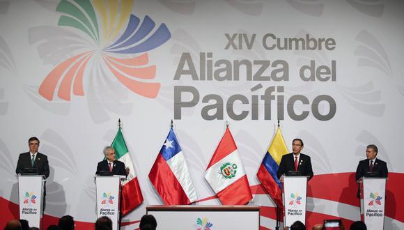 La Alianza del Pacífico es  una iniciativa económica y de desarrollo integrado por Perú, Chile, Colombia y México. (Foto: EFE)