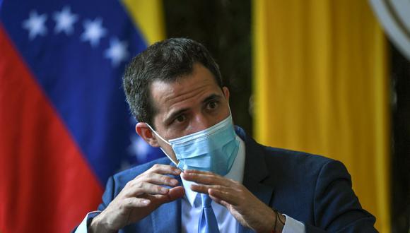 El líder opositor de Venezuela Juan Guaidó. (YURI CORTEZ / AFP).