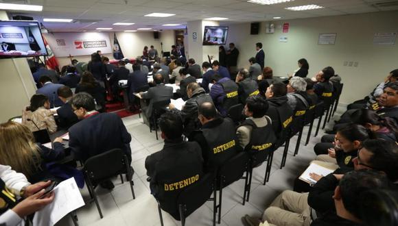 Se realizaron cinco audiencias de prisión preventiva para los supuestos integrantes de Los Cuellos Blancos del Puerto. (Foto: Anthony Niño de Guzmán/ El Comercio)
