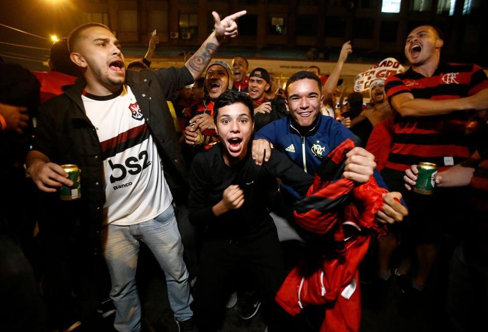 Los hinchas del Flamengo tomaron Lima. (Foto: Renzo Salazar)