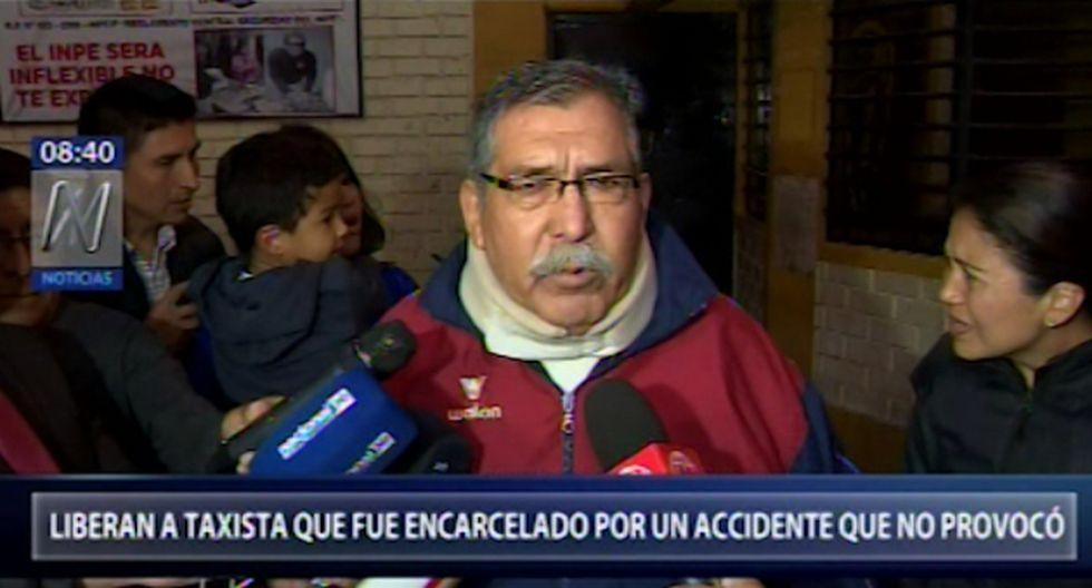 Liberan a taxista que terminó en prisión por accidente del que no fue responsable - El Comercio - Perú