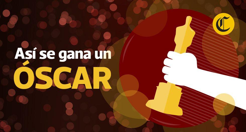 En los premios Oscar, el camino no vale más que la meta: una estatuilla dorada. (Diseño: El Comercio)
