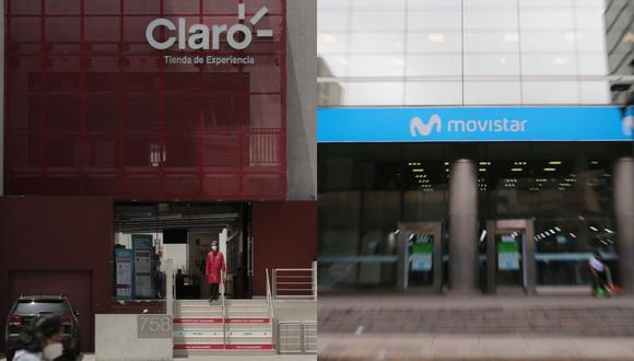 Según Osiptel, la participación en el mercado entre Telefónica y Claro se ha venido acortando año a año. (Foto composición: Leandro Britto / Hugo Curotto / GEC)
