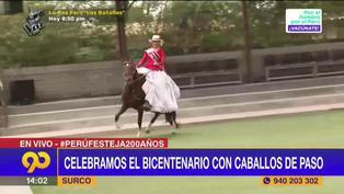 Surco: Celebrarán el Bicentenario con el show caballos de paso