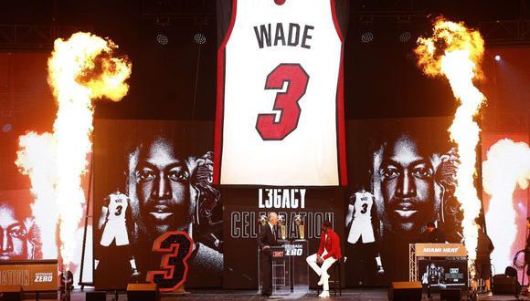 D-Wade ha participado en los únicos tres campeonatos del Miami Heat en la NBA   Foto: AFP