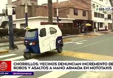 Chorrillos: vecinos denuncian constantes robos en mototaxis