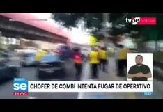 Surco: chofer de combi intenta fugar de operativo y casi atropella a inspectores