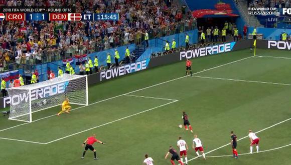 Croacia vs. Dinamarca: Schmeichel atajó penal a Modric en tiempo extra. (Foto: AFP)