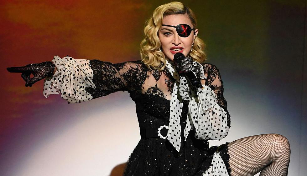 Madonna lució como Juana de Arco en Eurovisión gracias a Gaultier. (Foto: AFP)