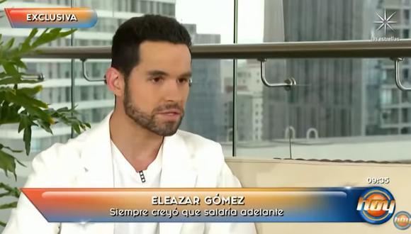 """Eleazar Gómez dio una entrevista al programa """"Hoy"""" de México. (Foto: Captura Televisa)."""