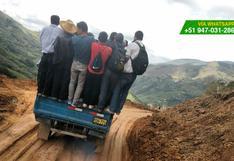WhatsApp: temerario traslado en carretera de Cajamarca (FOTOS)