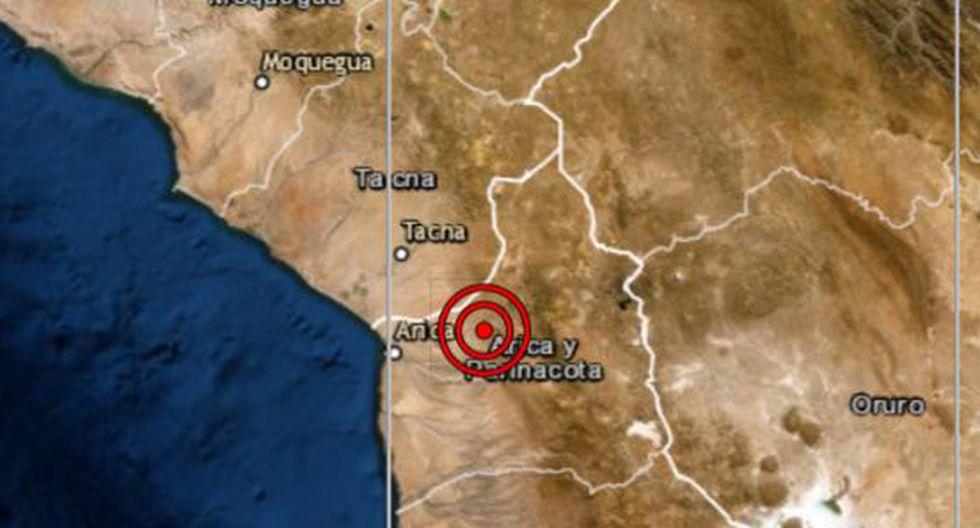 Sismo de magnitud 4,6 se reportó en Calana esta tarde. (IGP)
