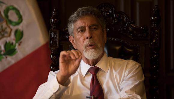 """El presidente Francisco Sagasti exhortó a la ciudadanía a no creer en """"informes tendenciosos"""" (Anthony Niño de Guzmán/GEC)"""