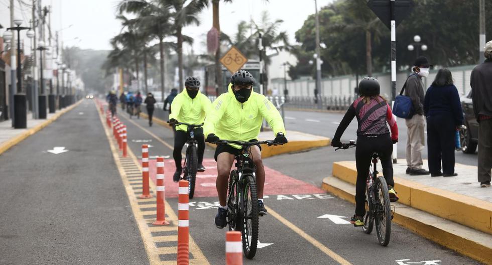 La nueva ciclovía de Chorrillos fue inaugurada en abril y tiene una extensión de 3,92 km. (Foto: Jesús Saucedo/GEC)