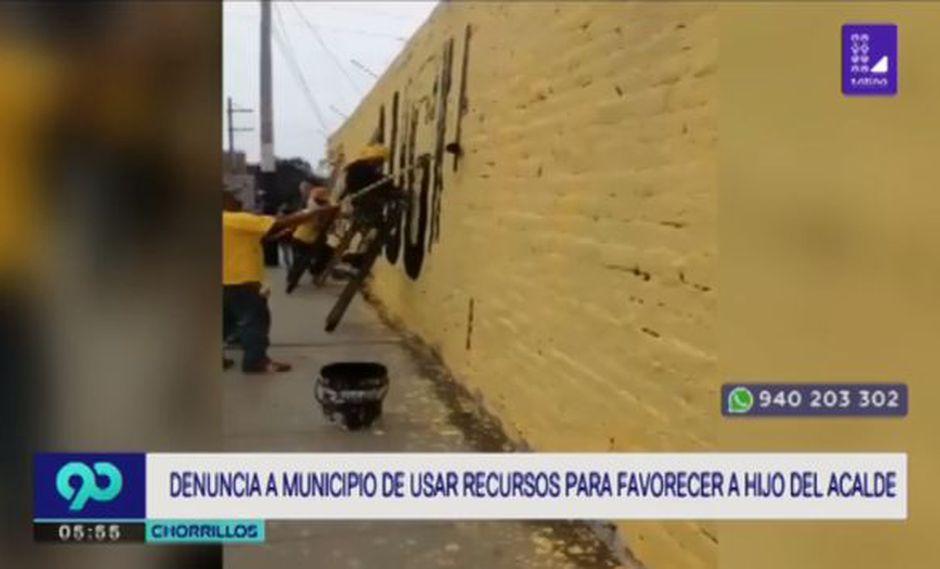 Los vecinos del distrito de Chorrillos denunciaron a través de las redes sociales el mal uso de recursos que viene realizando el municipio a favor del hijo del Alcalde de Chorrillo, Augusto Miyashiro. (Foto: Latina)