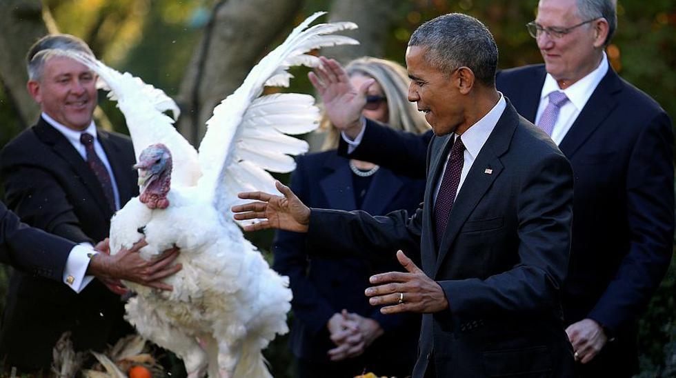El último Acción de Gracias de Barack Obama como presidente - 1