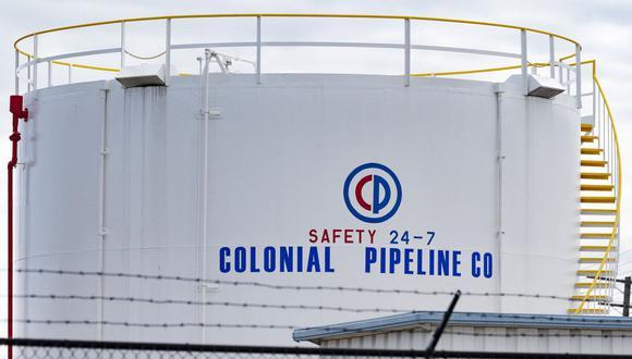 Los tanques de combustible se ven en Colonial Pipeline Baltimore Delivery en Baltimore, Maryland, el 10 de mayo de 2021. (Foto de JIM WATSON / AFP).