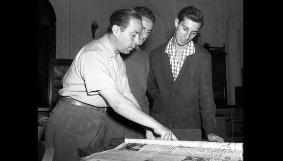 Salvador Bilardo visitó la redacción de este diario en 1960. Foto: GEC Archivo Histórico