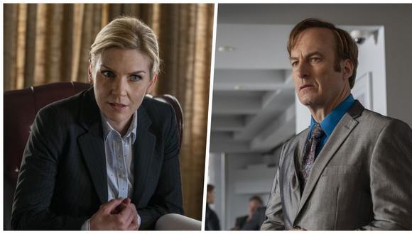 """En """"Better Call Saul"""" 5x04, Kim Wexler (Rhea Seehorn) y Jimmy McGill (Bob Odenkirk) tienen formas muy distintas de aproximarse al derecho. Fotos: AMC."""