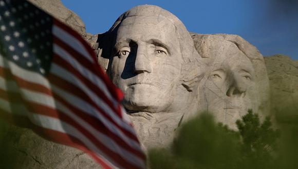 Coronavirus: La celebración por el Día de la Independencia se realizará en el monte Rushmore, donde están esculpidas las caras de cuatro expresidentes de Estados Unidos. (AP).