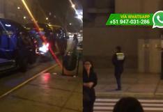 WhatsApp: interrumpen el tránsito pese a presencia policial