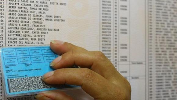 La resolución publicada este martes en normas legales admite los DNI de menores de edad para estas elecciones congresales. (Foto: Andina)