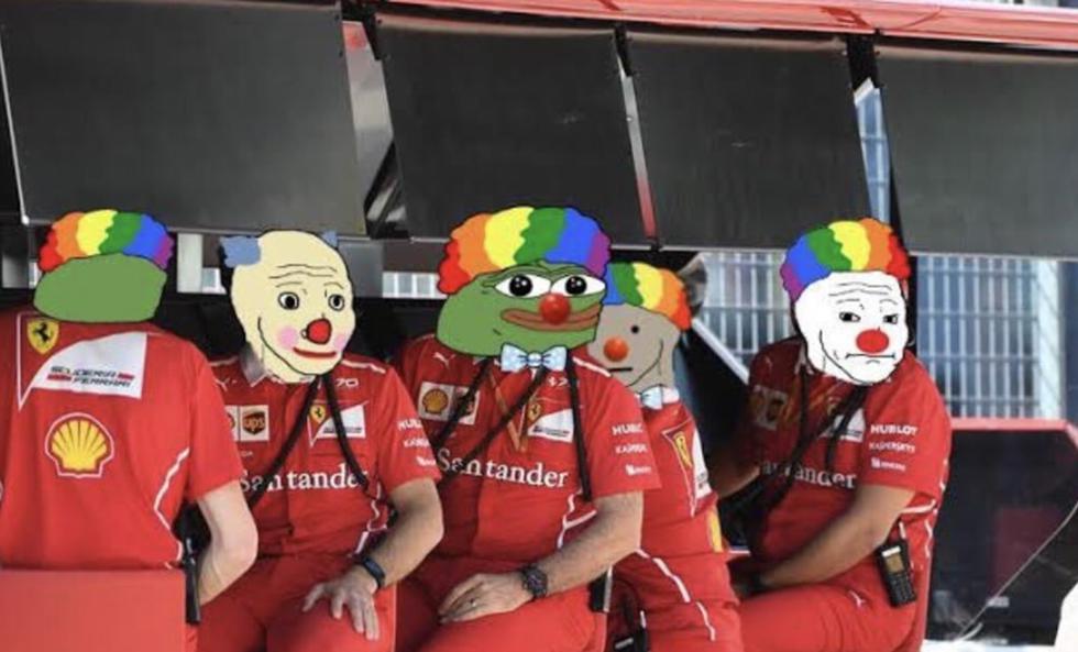 Doble abandono de Ferrari: memes se burlaron del error en primera vuelta en el GP Estiria 2020 | Foto: Facebook