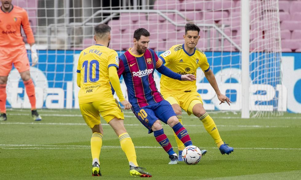 Barcelona y Cádiz se midieron en la fecha 24 de LaLiga Santander | Foto: AP