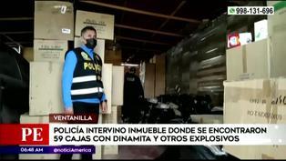 Ventanilla: Policía incauta 59 cajas de dinamita y otros explosivos en una vivienda